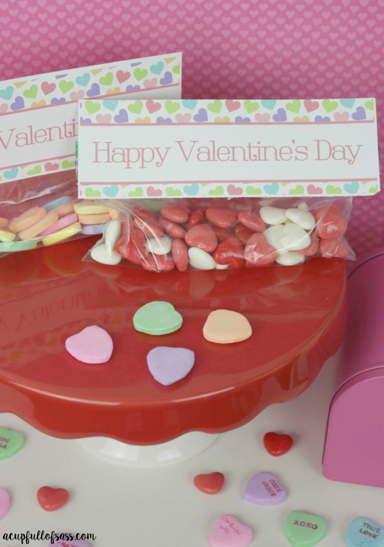 Valentine's day treat bag toppes