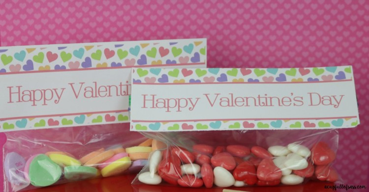 Free Pritnable Valentine's Day Treat Bag Toppers
