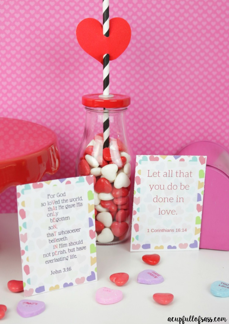 Valentine's Day scripture cards printable