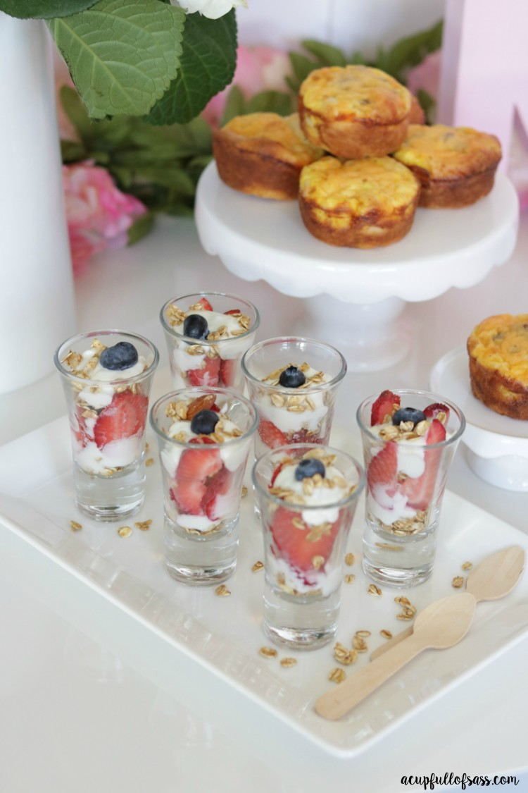Fruit Yogurt Parfait Shooters