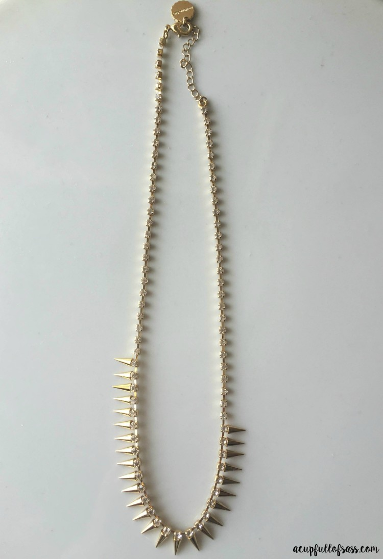 Marlyn Schiff Grover Crystal Spike Necklace - acupfullofsass.com