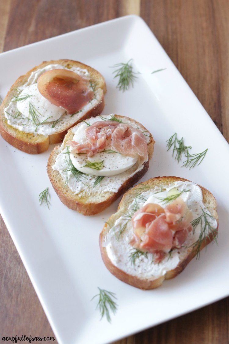 This Prosciutto Bruschetta with Fresh Mozzarella makes an easy appetizer.