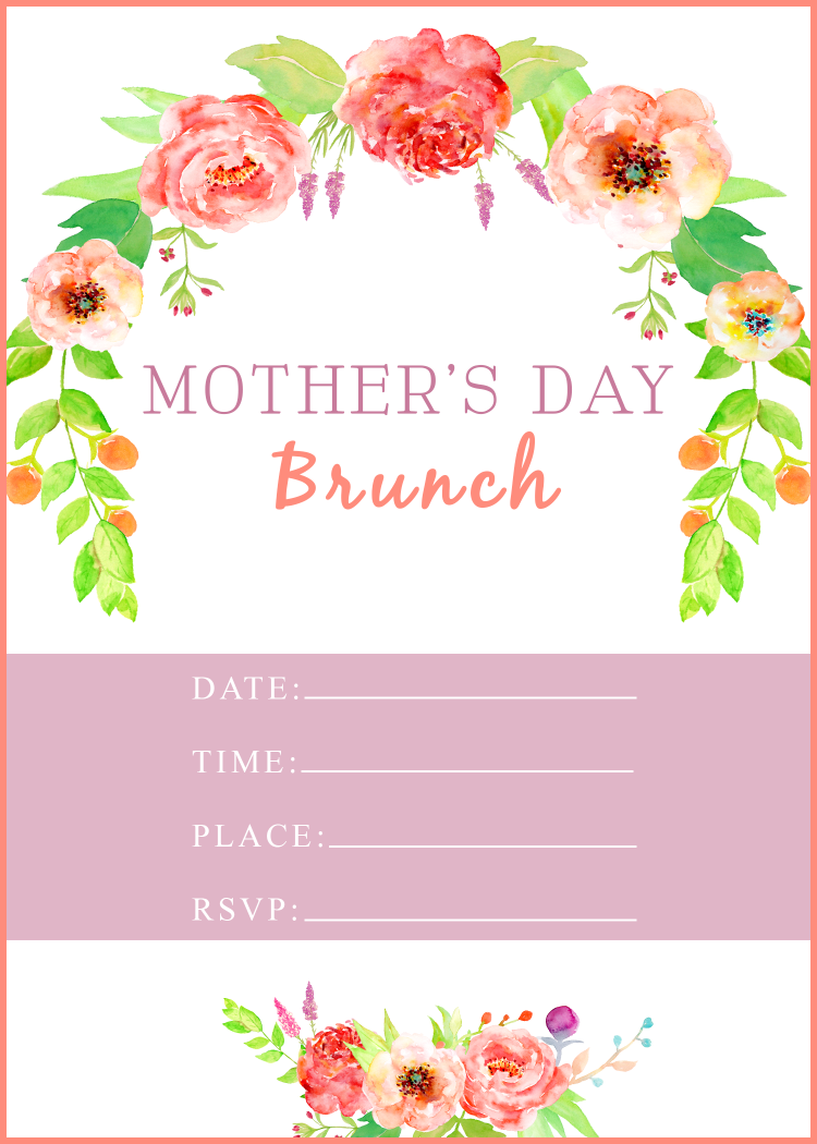 Mother's Day Brunch Free Invitation Printable