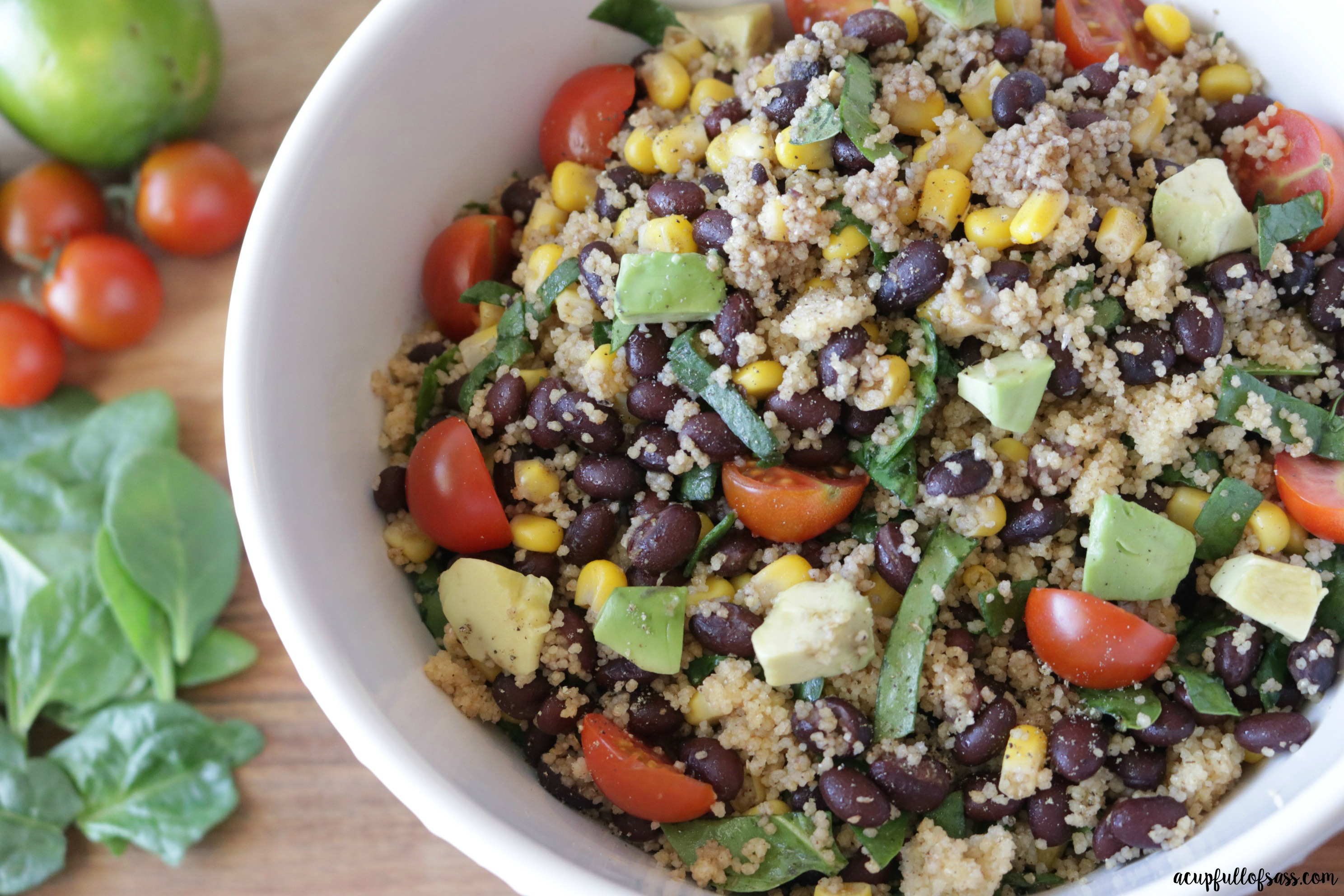 Couscous+Black Bean+Corn Salad