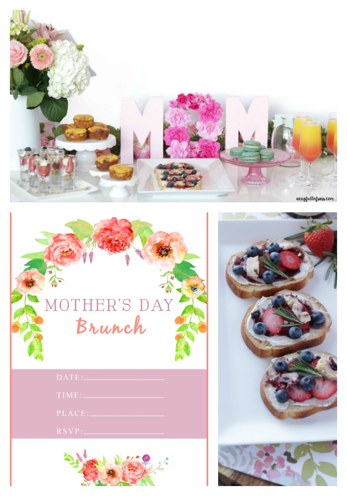 Mother's Day Brunch with Free Invitation Printable.