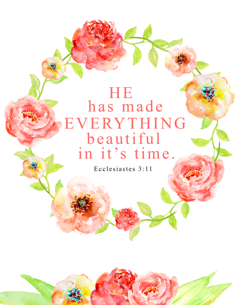 picture about Free Printable Bible Verses identified as Floral Bible Verse Printable - A Cup Comprehensive of S