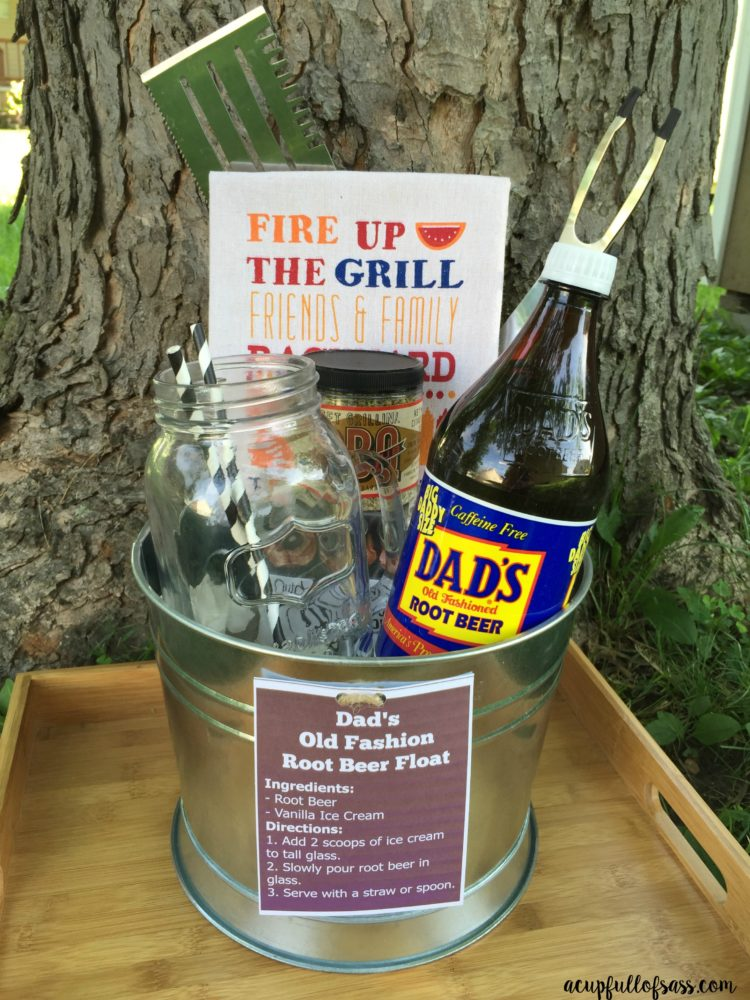 Dad's Root Beer Float Gift with Free Printable