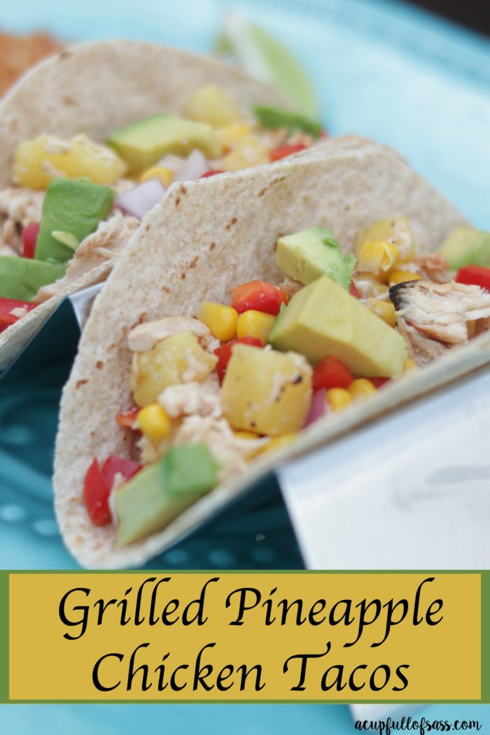 Grilled Pineapple Chicken Tacos