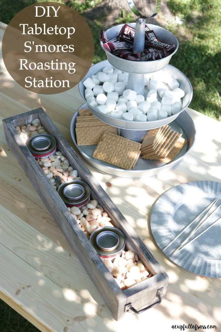DIY Tabletop S'mores Roasting Station