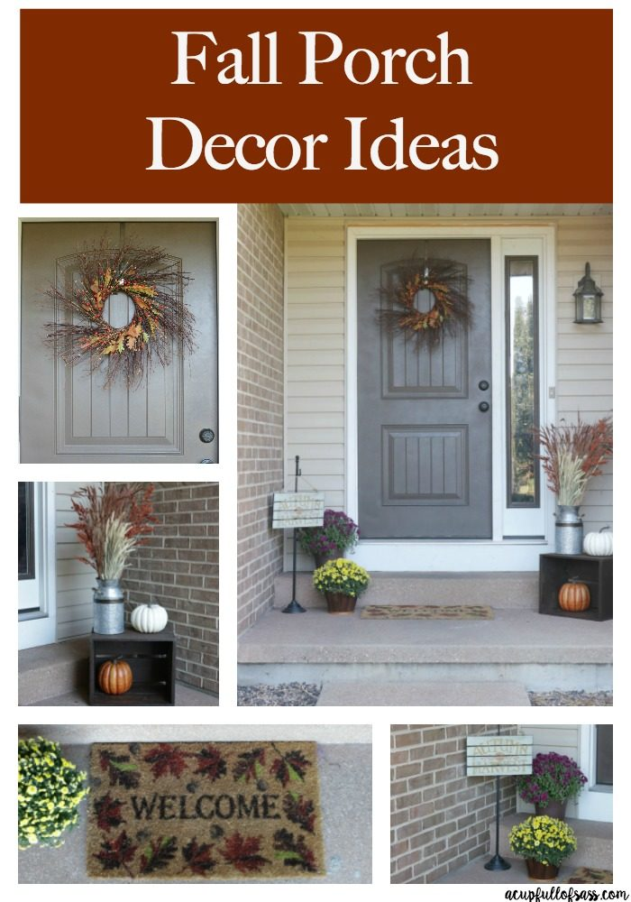 Easy Fall Porch Decor Ideas. - A Cup Full of Sass