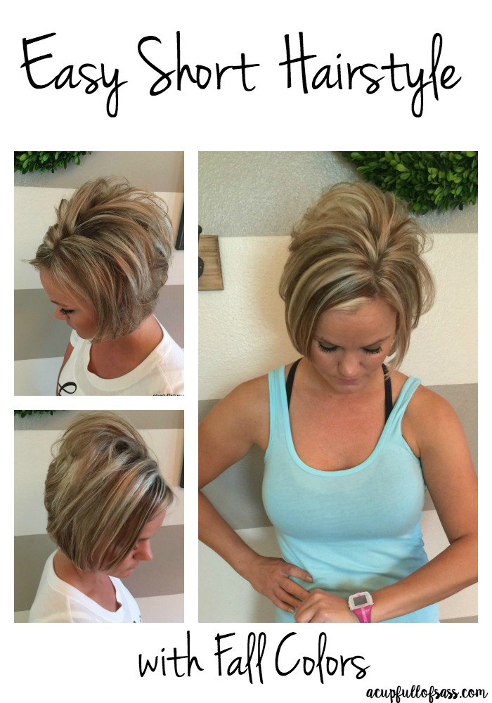 Easy Short Hairstyle with Fall Colors
