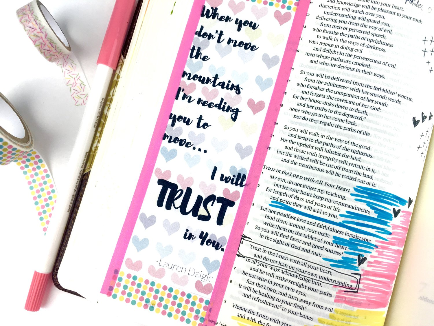 Bible Journaling I will Trust in You
