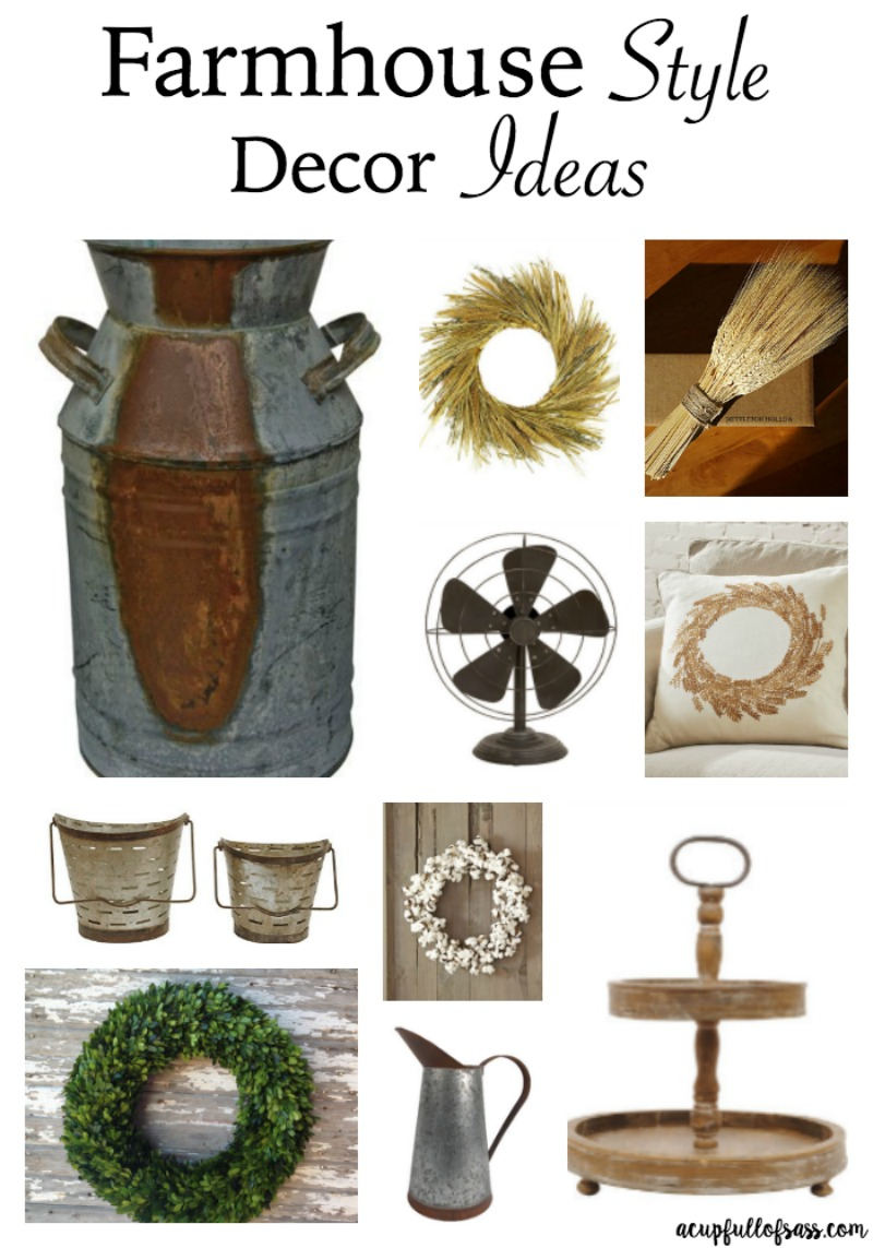 Farmhouse Style Decor Ideas. I don;t know about you, but I am a huge fan of Fixer Upper and Joanna Gaines. I love the Farmhouse style decor!