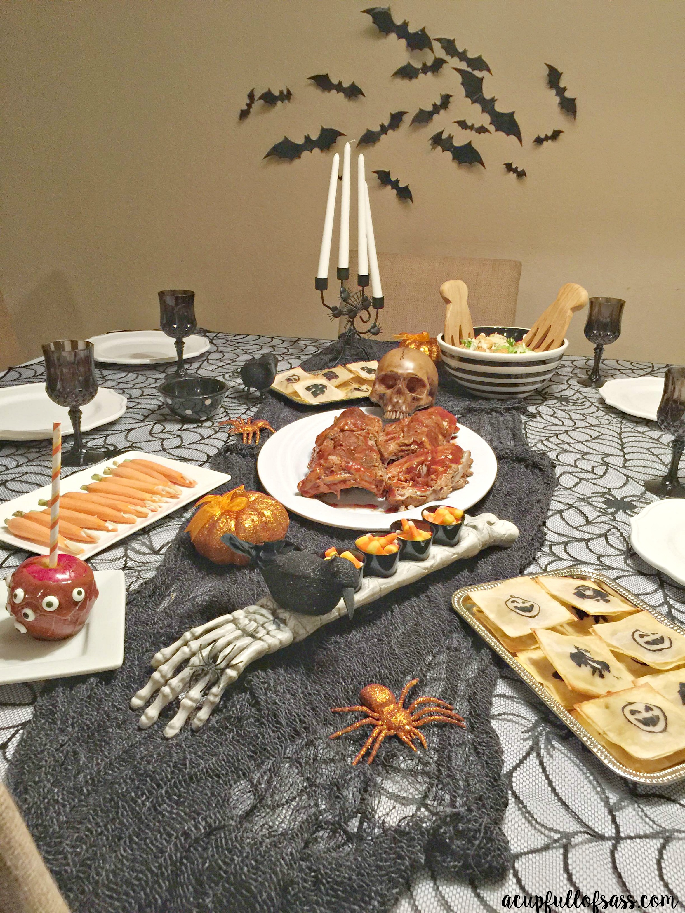 Halloween Dinner Party Ideas. Host your own Halloween dinner with these easy tips. A Cup Full of Sass
