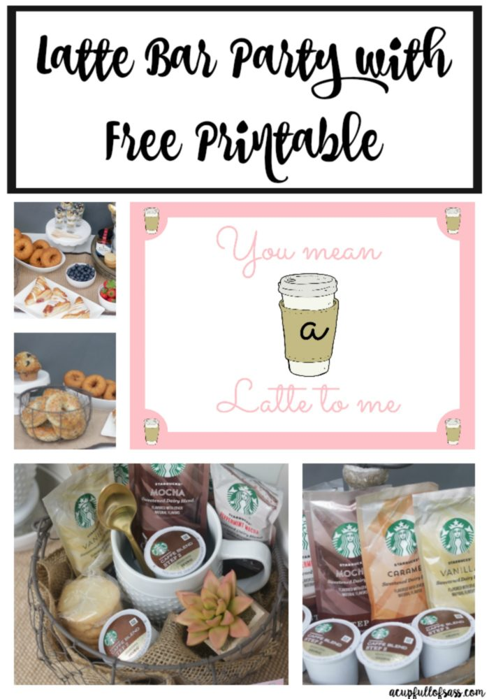 You mean a Latte to me Free Printable for gift basket. A great gift idea for the holiday season. Fill a basket with a mug, spoon and Starbucks Latte K-Cups.Then add this adorable gift tag.