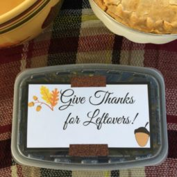 Give Thanks for Leftovers Free Printable
