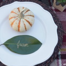 DIY Leaf Place Cards for Thanksgiving
