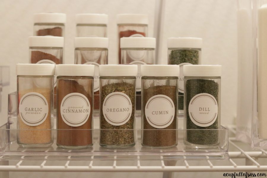 Organize Seasonings with Labels