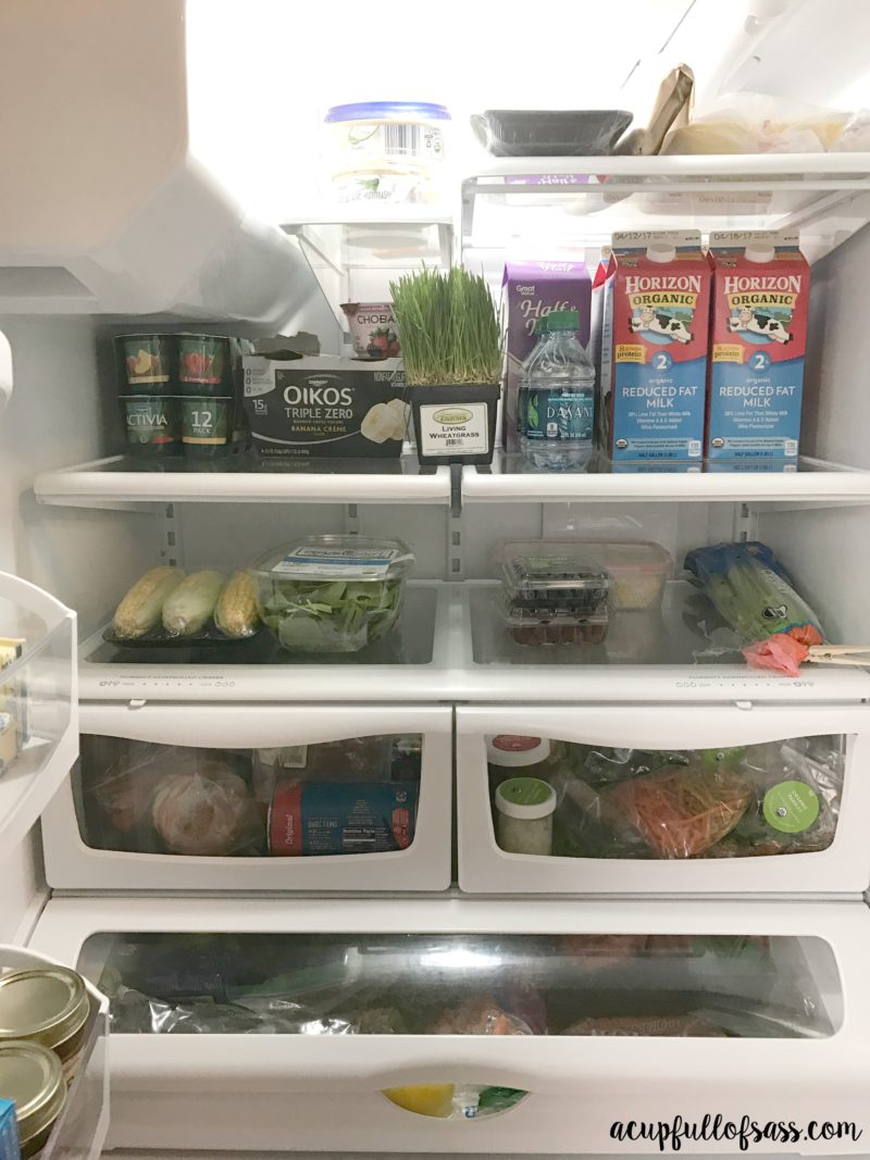 What I eat and how I organize my refrigerator.