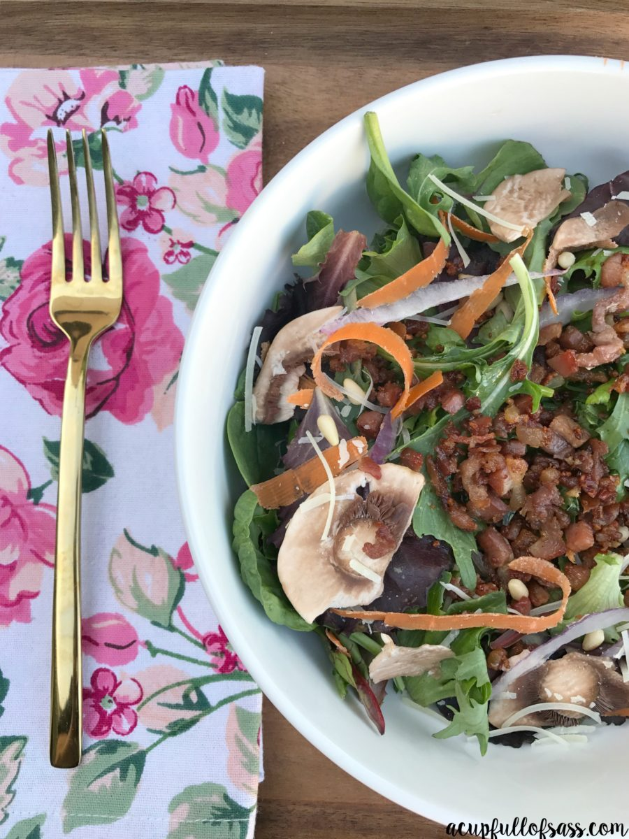 Crispy Prosciutto Pine Nut Salad - A Cup Full of Sass