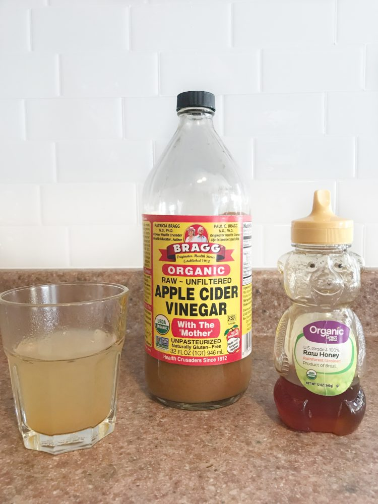 My Apple cider vinegar and honey daily drink.