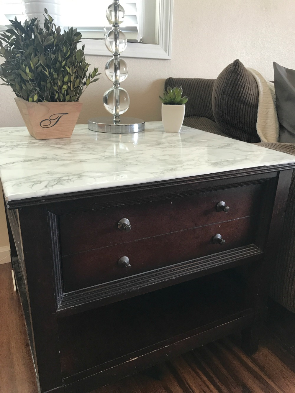 DIY Marble Table. - A Cup Full of Sass