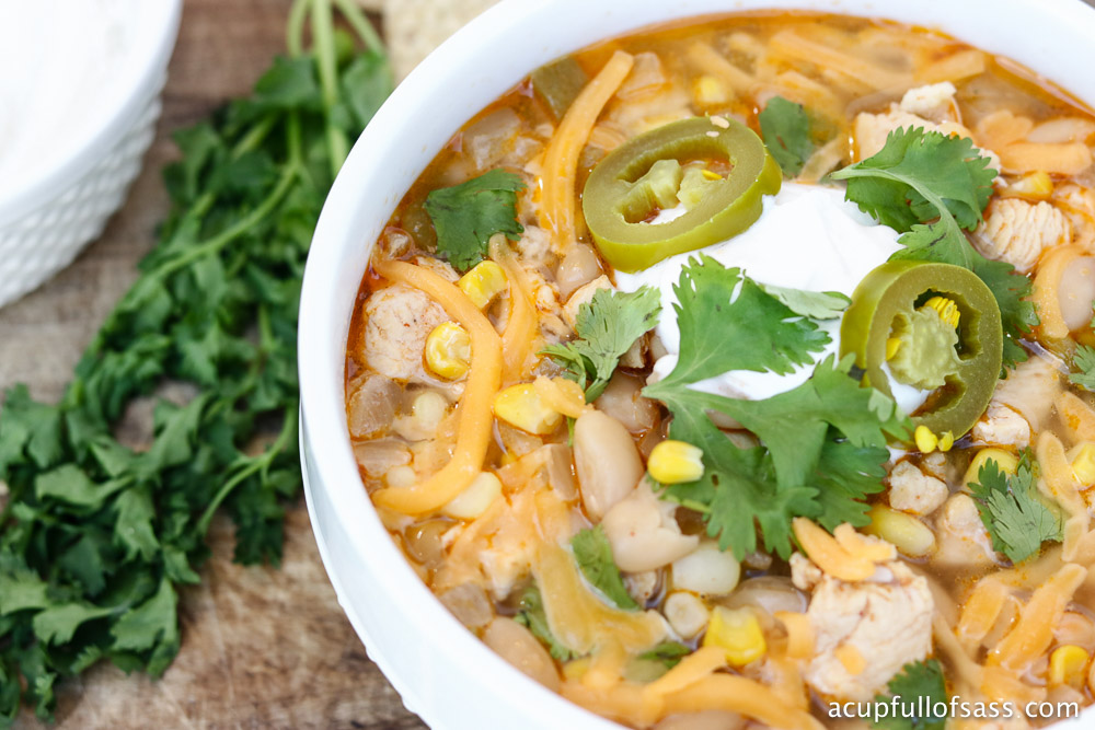 Healthy White Chicken Chili in the Pressure Cooker (Instant Pot)