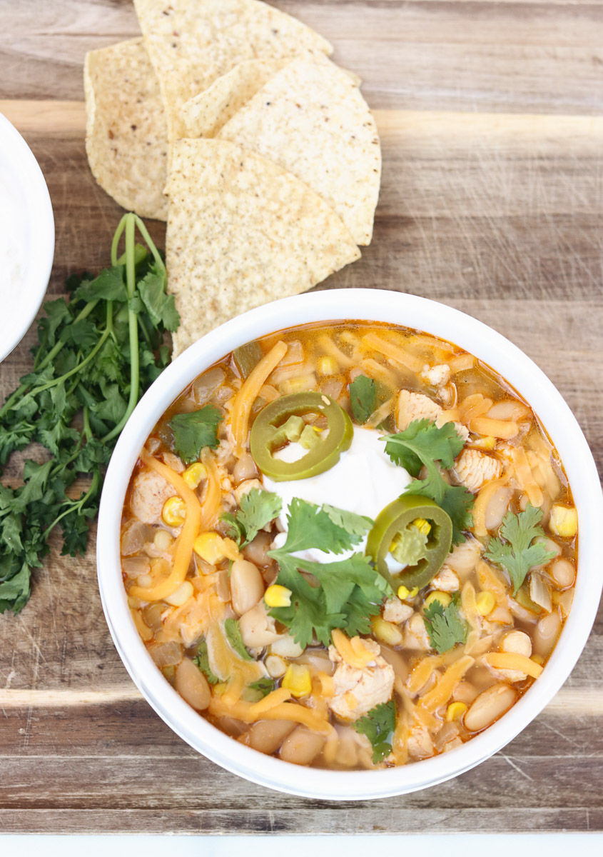 Healthy White Chicken Chili in the Pressure Cooker