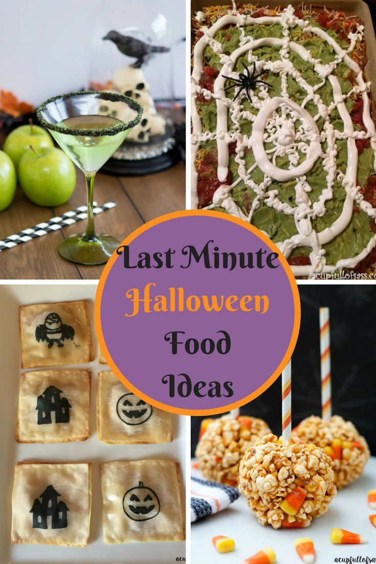 Last minute Halloween Food Ideas.