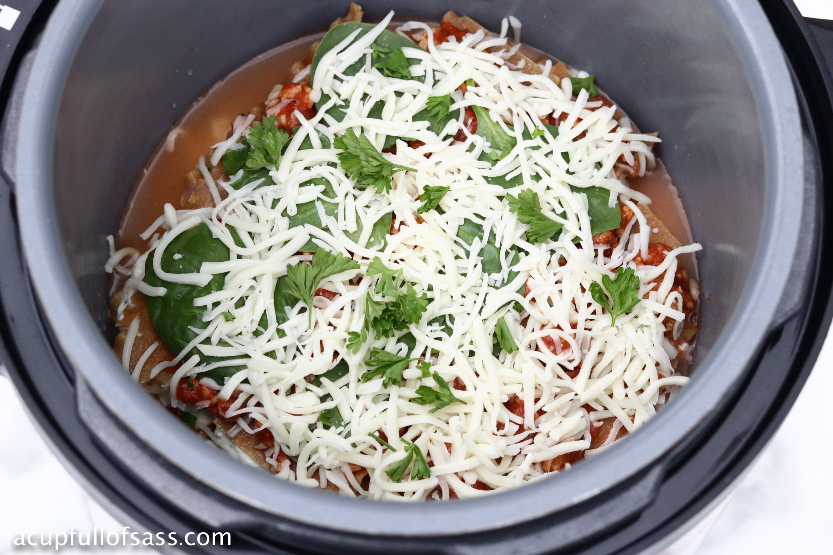 Healthy Lasagna in the Pressure Cooker