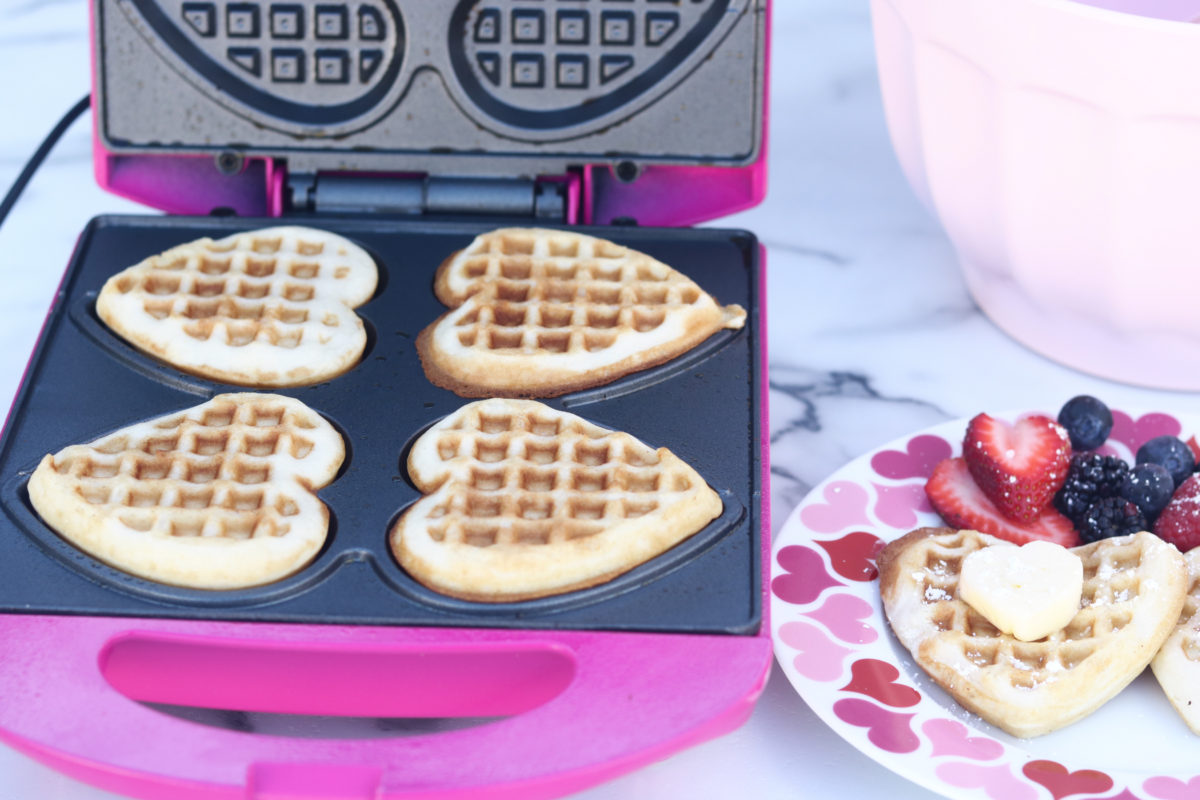 Heart Waffle Maker for Valentine's Day Heart Waffles