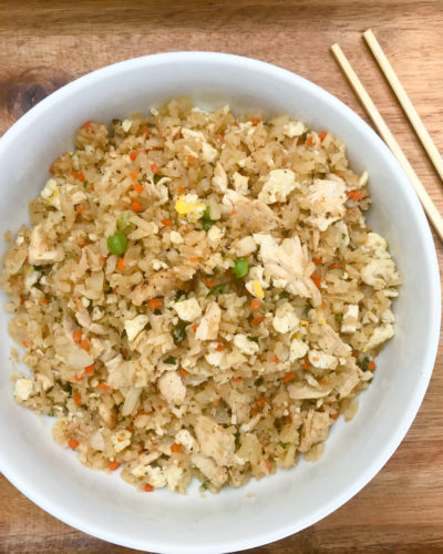 Low Carb Cauliflower Chicken Fried Rice
