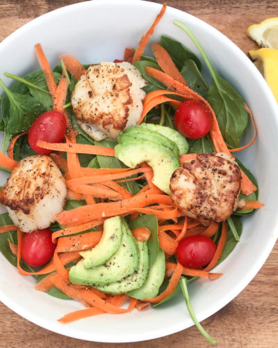 Seared Scallops Spinach Salad