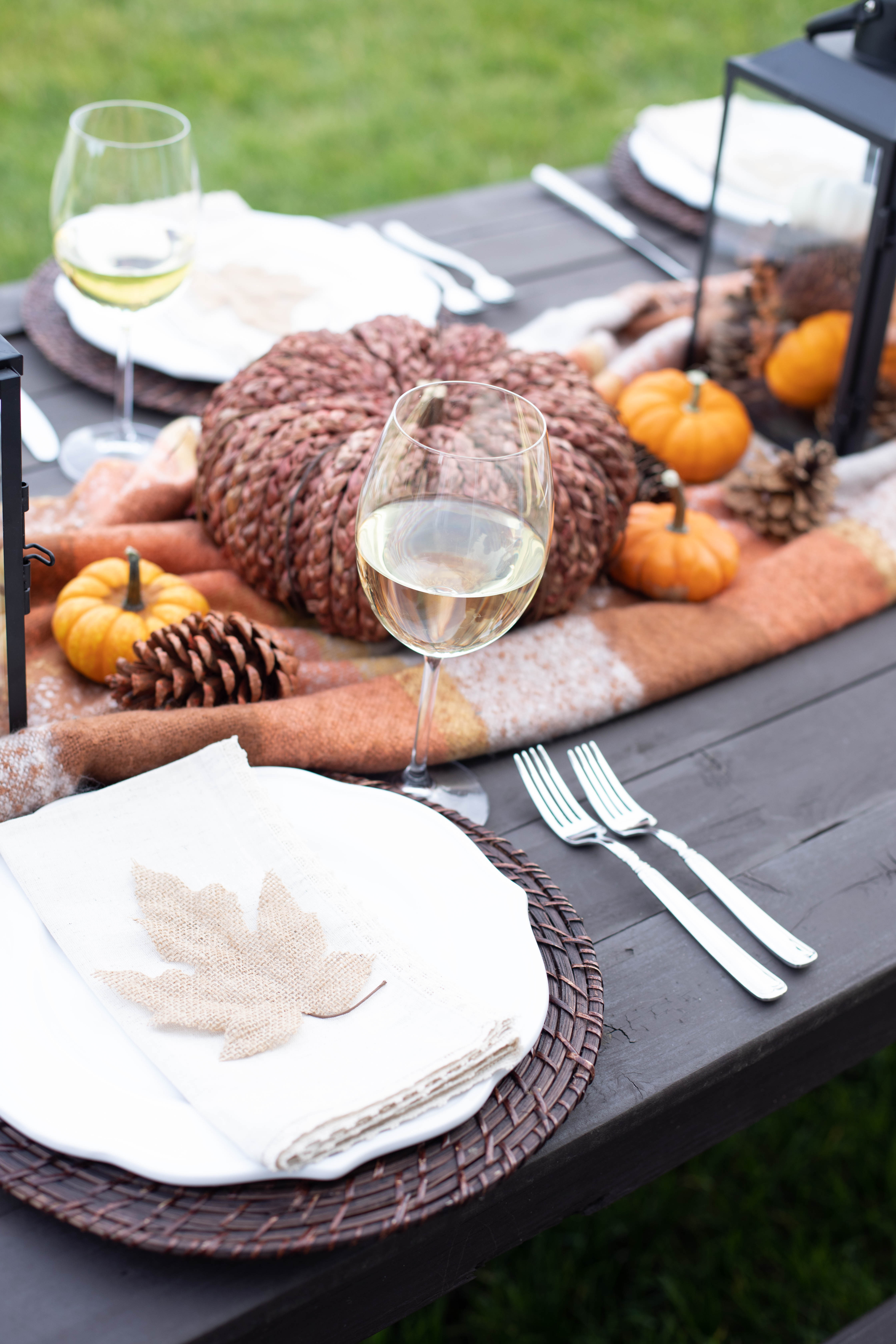 Easy Friendsgiving Tablescape.