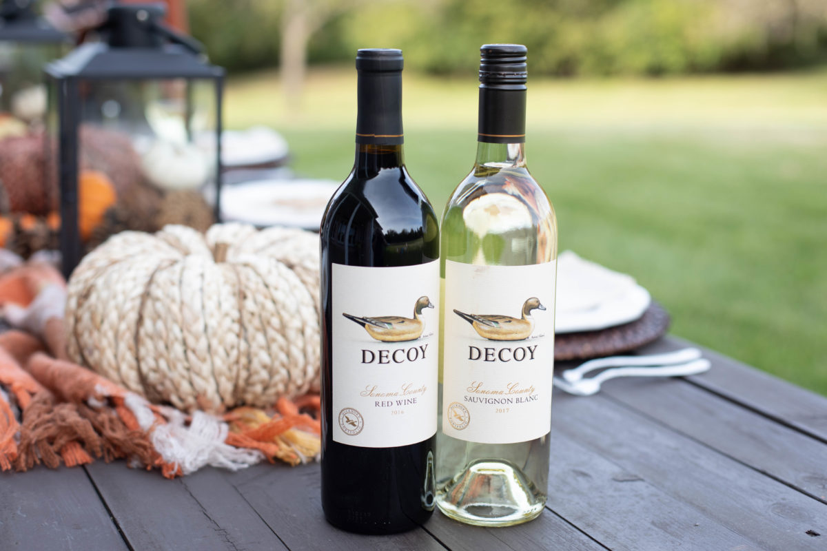 Easy Friendsgiving or Thanksgiving ideas with Decoy WInes.