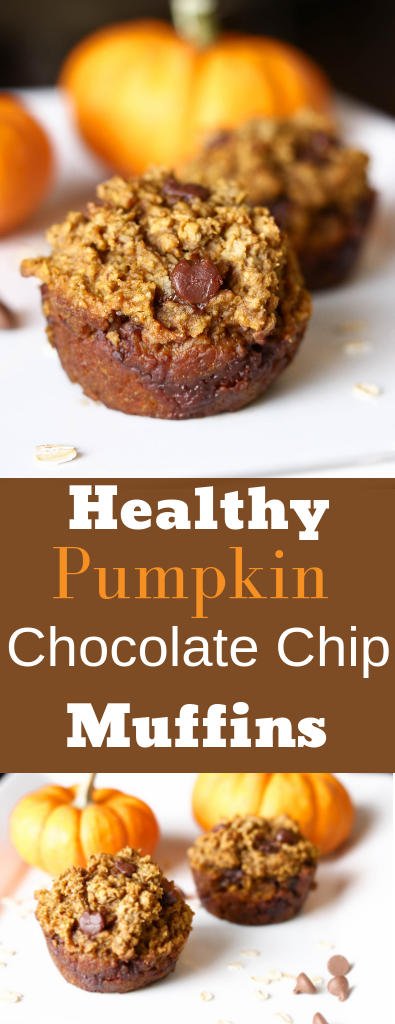 Healthy Pumpkin Muffins with Chocolate Chips