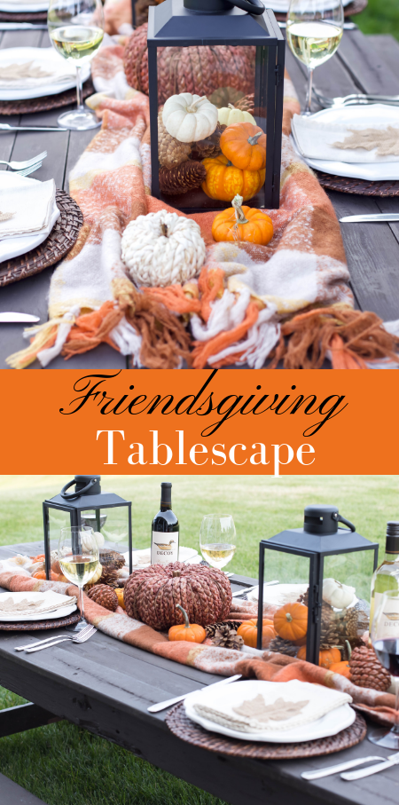 Easy Friendsgiving/Thanksgiving Tablescape.
