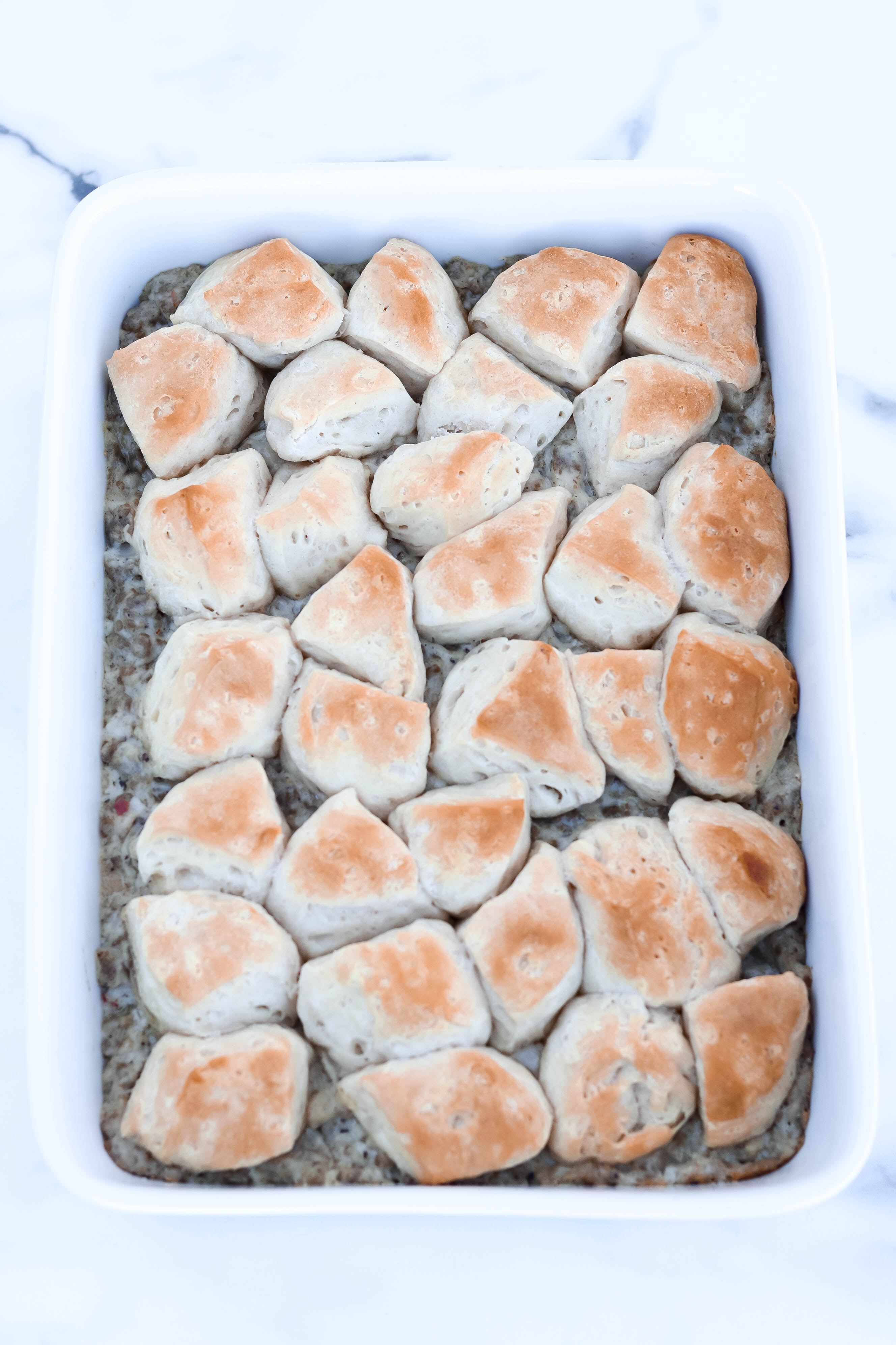 This Biscuits and Gravy Casserole