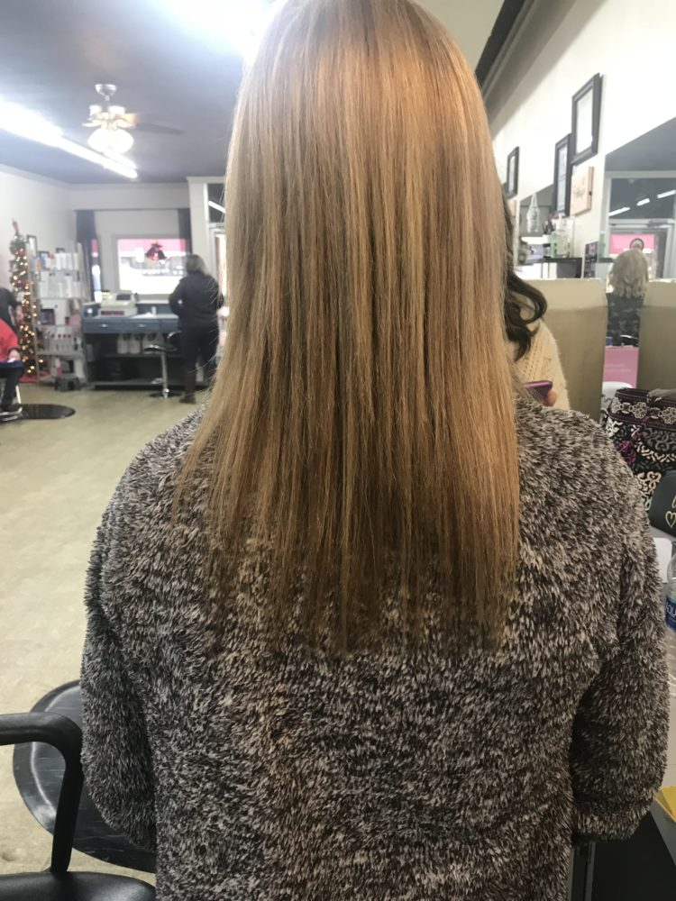 Flat Tip Hair Extensions Before and After