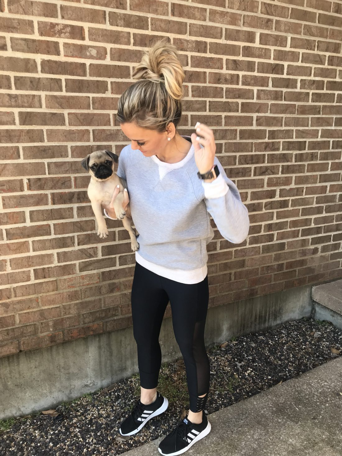 Amazon Athletic Outfit. Love this sweatshirt and leggings.