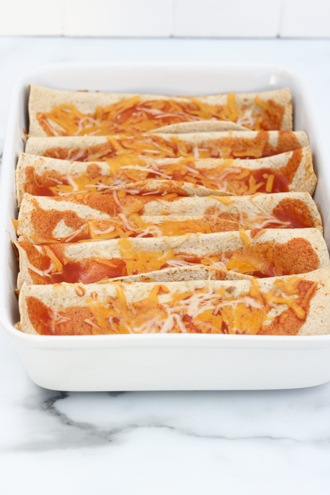 Slow Cooker Chicken Enchiladas. This recipe is both healthy and low carb.