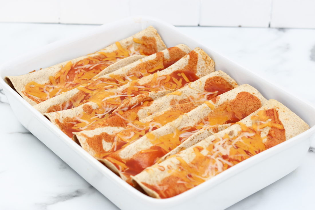 Slow Cooker Chicken Enchiladas. These are healthy and low carb.