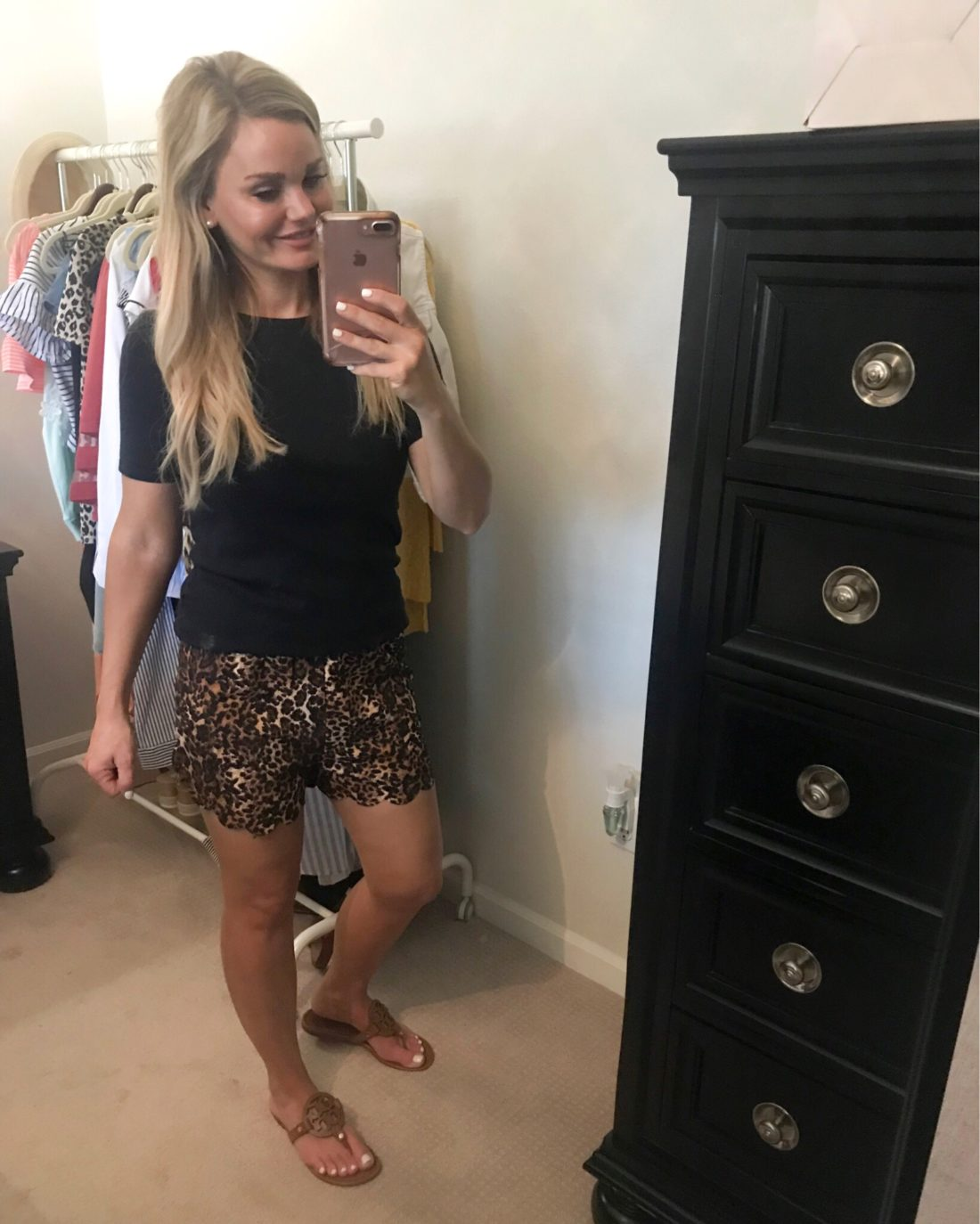 Leopard shorts Outfit Ideas for Summer