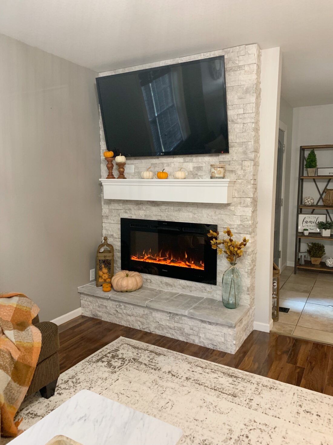 Fall Fireplace Mantel decor ideas
