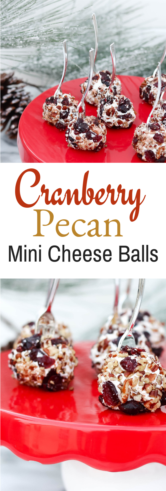 Cranberry Pecan Mini Cheese Balls.#cheeseball #appetizer #cranberry #holidayrecipe