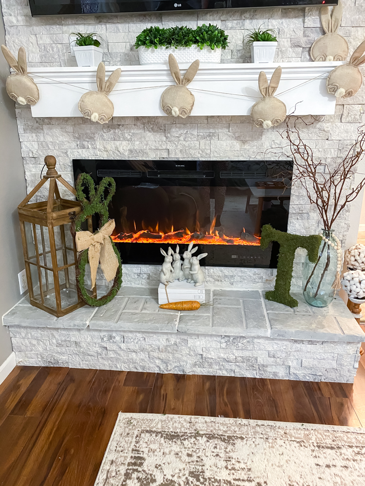 Spring Easter Fireplace Mantel